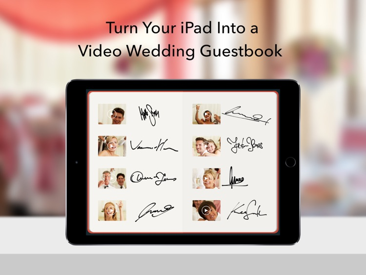 Wedding Guestbook - Video Photo Booth for Receptions and Events