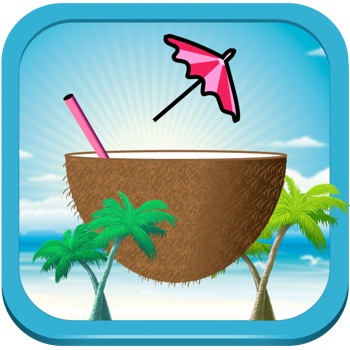 Caribbean Catch - Save tropical paradise with your coconut as umbrellas fall.
