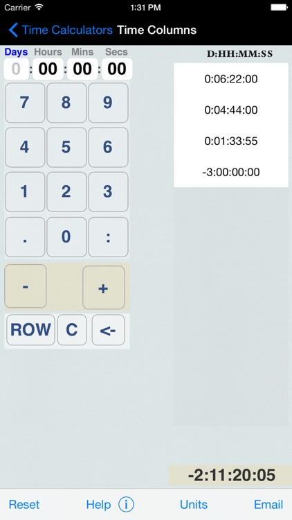 Hours, Minutes & Seconds Calculator with Date Diff
