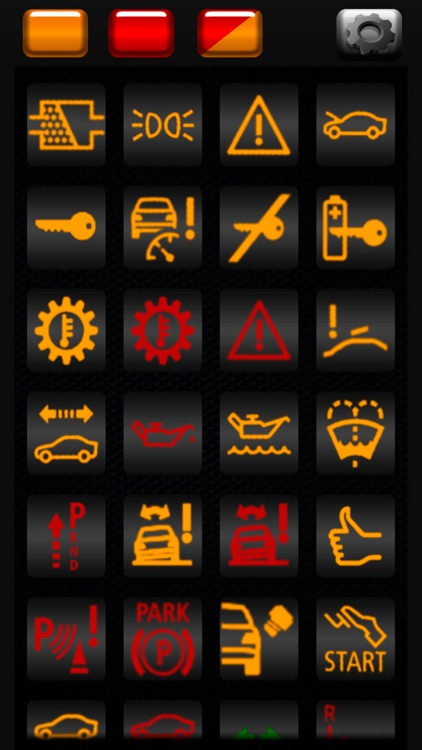 Warning lamps for BMW