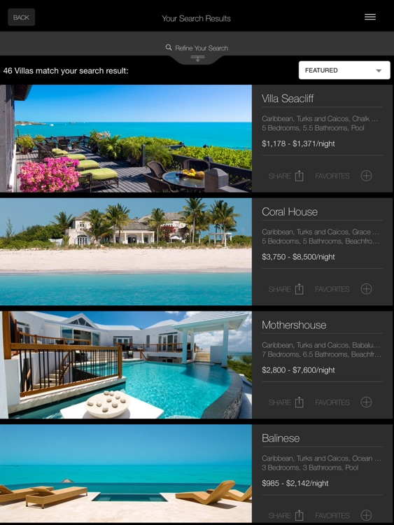 Luxury Retreats Ipad