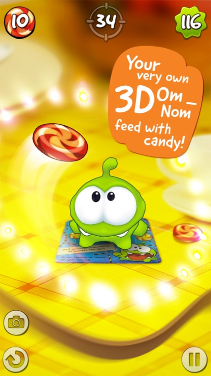 Om Nom: Candy Flick screenshot-0