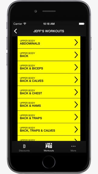 Like A Pro Bodybuilder - Bodybuilding app & workout plans by IFBB Pro Jeff Longのおすすめ画像3