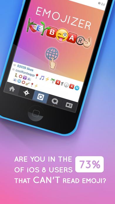 Emojizer Keyboard - Custom Emoji Font for iOS 8 Screenshot on iOS