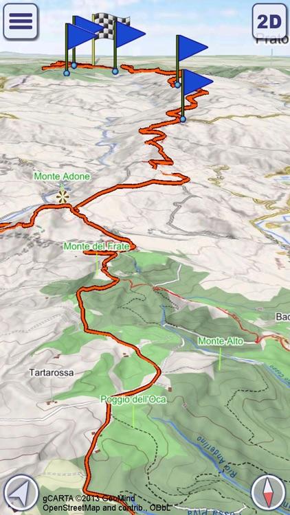 Alta Via dei Parchi - 3D Maps