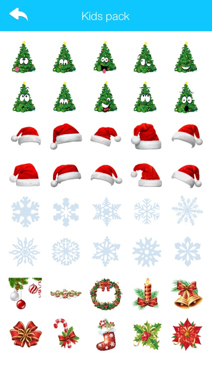 Christmas Stickers & Emoji for WhatsApp and All Chats Messengers 2016 Winter Holiday Edition