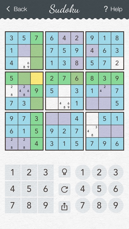 Sudoku 2 - japanese logic puzzle game with board of number squares