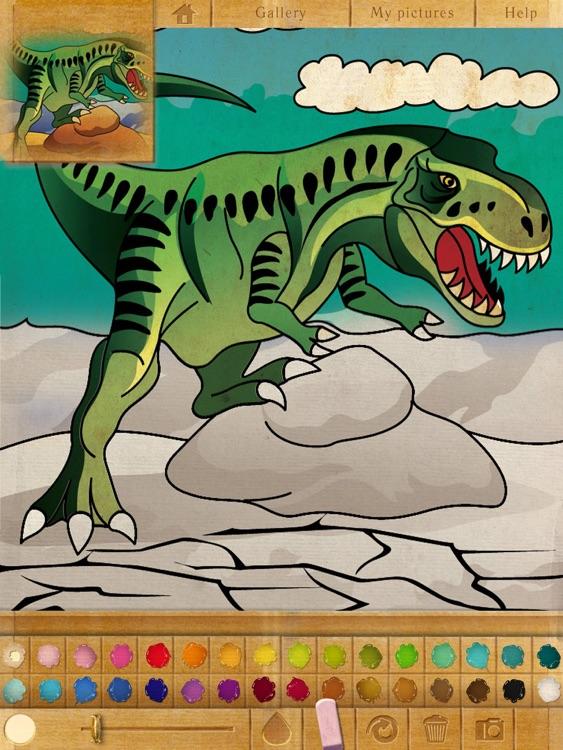 Coloring book. Dinosaurs screenshot-3