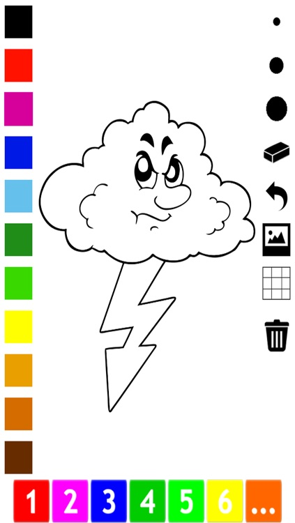 A Weather Coloring Book for Children: Learn to color the world screenshot-3