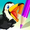 Aktiv! Målarbok av Fåglar för Barn: Bilder Som Pingvin, Anka, Uggla, Flamingo och Papegoja