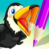 Aktif Buku Mewarnai Burung Anak Gambar Penguin Bebek Hantu Flamingo
