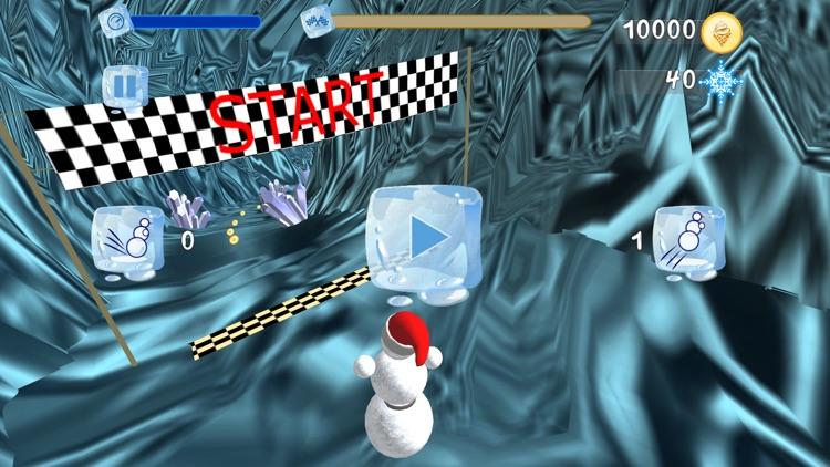 Snowman Race 3D screenshot-3
