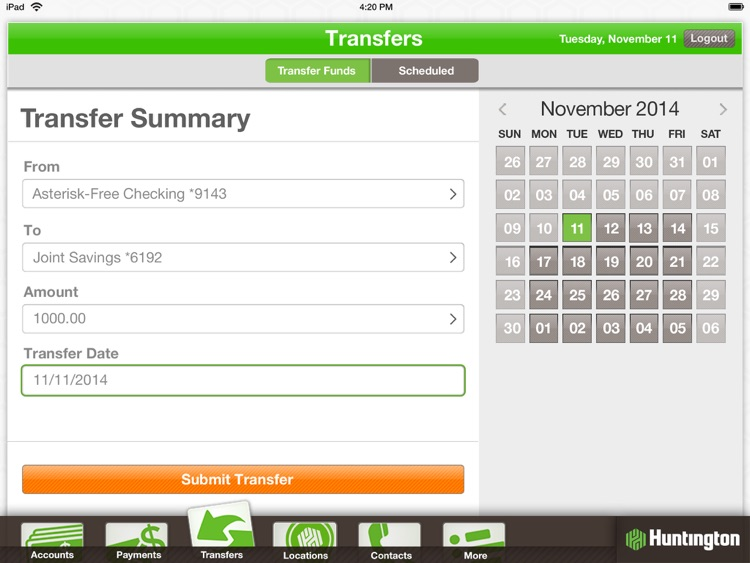 Huntington Mobile for iPad screenshot-3