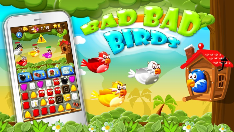 Bad Bad Birds - Puzzle Defense Free: Innovative Cartoon Game for Everyone