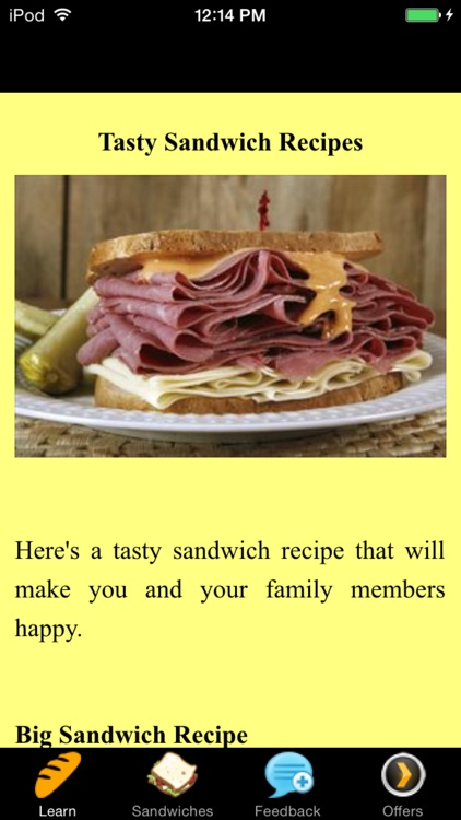 Tasty Sandwich Recipes - Superbowl Recipes