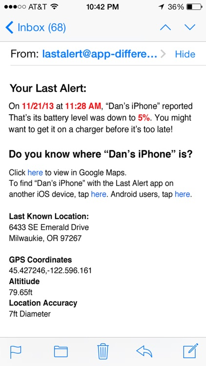 Last Alert Pro - Find My iPhone