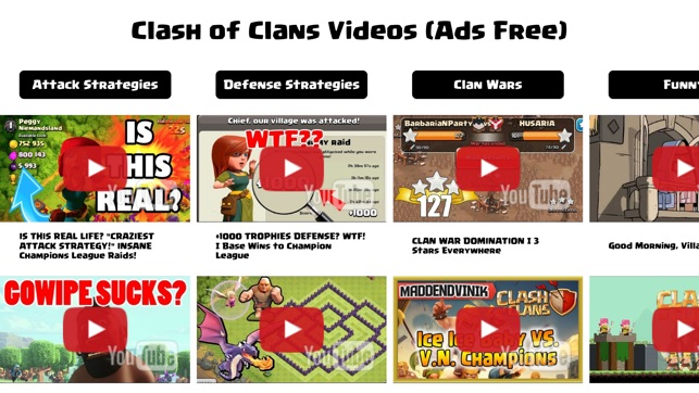 Videos For Clash Of Clans Guide Funny Tutorial On The App Store