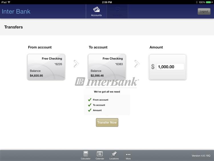 InterBank for iPad screenshot-3
