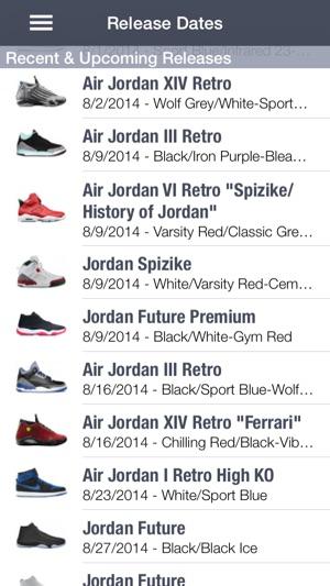 Shoe Release Calendar.Spg Lite Sneaker Release Dates On The App Store