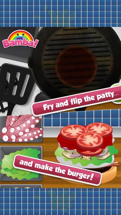 Bamba Burger - Make, Cook, Eat Hamburgers, Sodas & Fries in a Restaurant