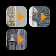 Monumentos de España (Alhambra, Sagrada Familia, Catedral de Santiago)