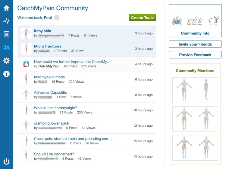 Pain Diary & Community CatchMyPain PRO