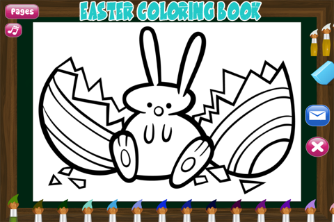 Easter Coloring Book - Spring-time Art fun for Preschoolers: Eggs , Chicks and more Pages screenshot 4