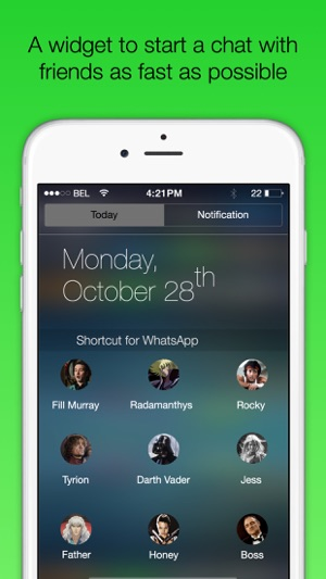 Shortcut for WA Plus - Widget to fast chat with friends Screenshot