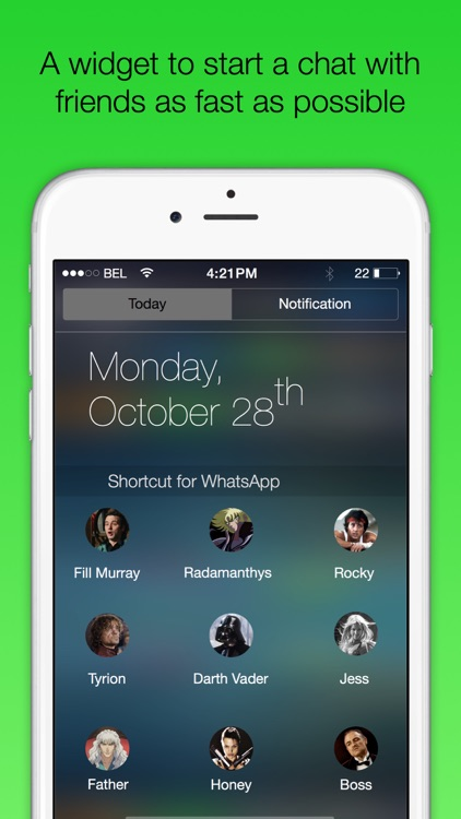 Shortcut for WA Plus - Widget to fast chat with friends