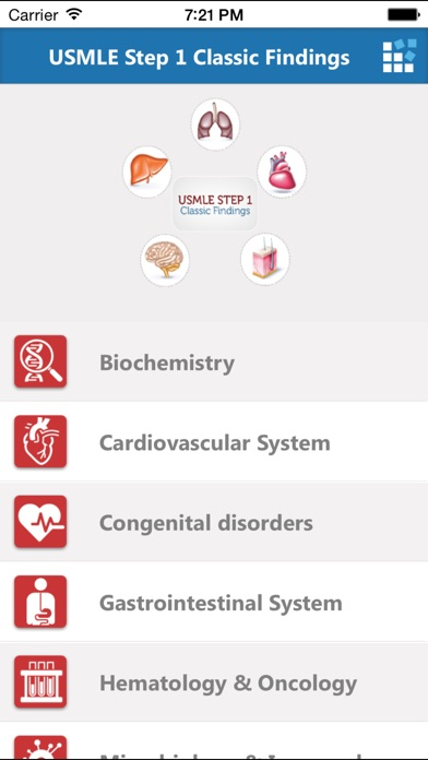 USMLE Step 1 Classic Findings – Most tested diseases & presentations for Cardiovascular System, Neurology, Hematology & Oncology, Biochemistry and Gastrointestinal System screenshot two