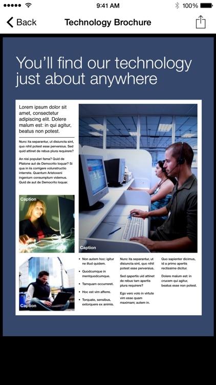 Brochureware for Microsoft Word
