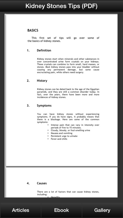 Kidney Stones Guide - How To Prevent & Treat Kidney Stones Symptoms screenshot-2