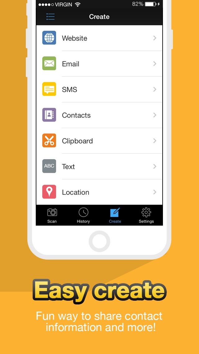 QR Code Reader - QuickMark Barcode Scanner Screenshot on iOS