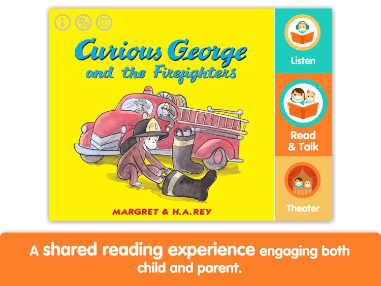 Curious George and the Firefighters by i Read With screenshot-0
