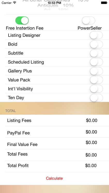 eBay Fee Calculator (U.S)