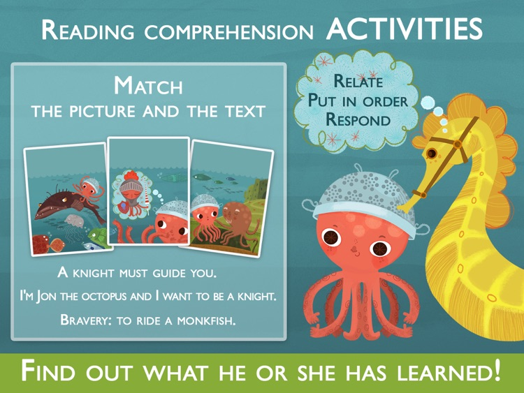 Teach me to read – Sir Jon the knight, an Educational Montessori Tool with Activities and Books for Learn to Read.