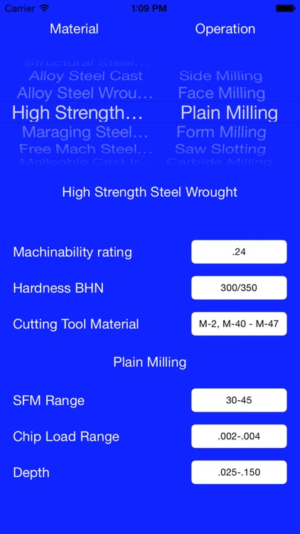 Machinability Calculator - Speeds and Feeds for Tooling Metals and Carbide