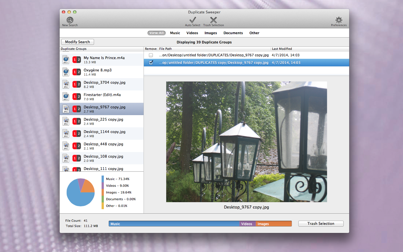 Duplicate Sweeper Mac 破解版 重复文件扫描工具