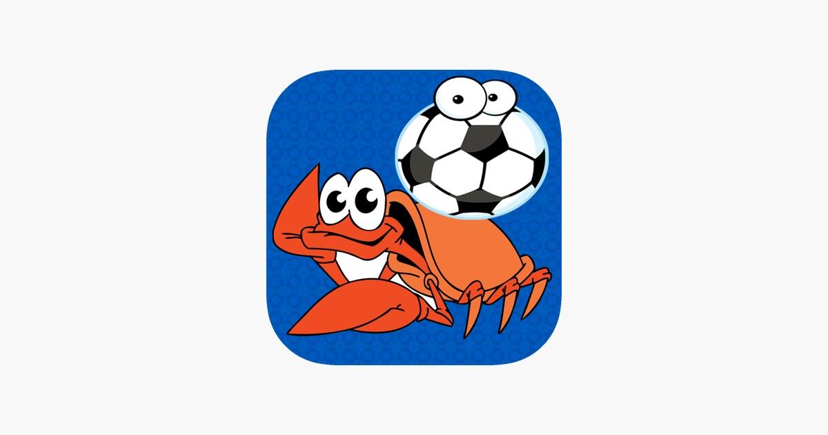Mar partido de fútbol de los animales - peces vs juego de cangrejo ...