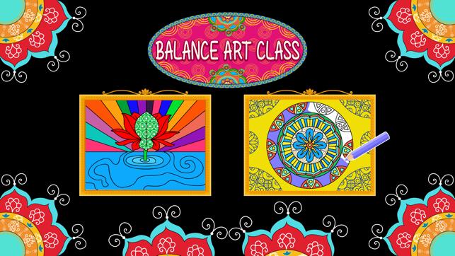Balance art class: coloring book for teens and kids PRO Screenshot