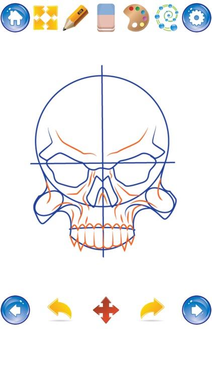 How to Draw Skulls screenshot-4
