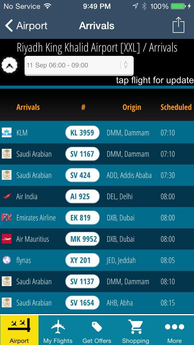 Riyadh King Kahlid Airport Pro (RUH) Flight Tracker Premium Saudi Arabian air radar airlines-2