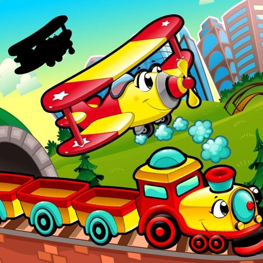 Активный! Shadow Игра Для Детей, Чтобы Учиться И Играть С Транспортных Средств