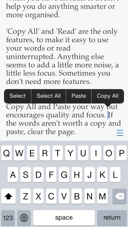 Pop for iOS — a piece of paper to write notes, ideas and things to do screenshot-3