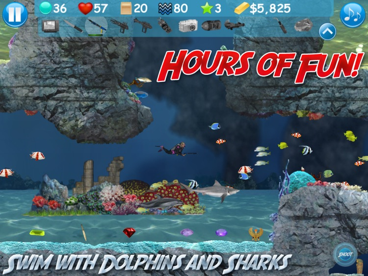 Atlantis Oceans HD Scuba Diving Shark Dolphin Fish Whale screenshot-3