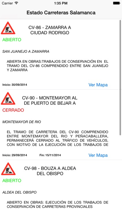 Estado Carreteras Salamanca screenshot-4