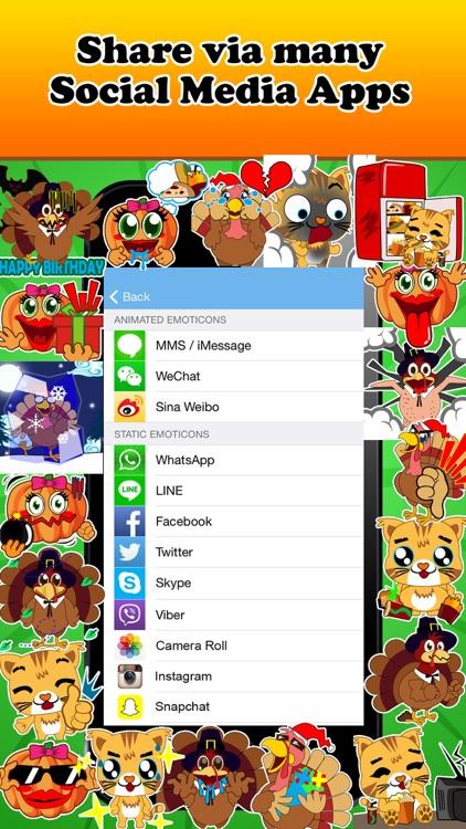 Emoji Kingdom - Christmas Turkey Emoticons