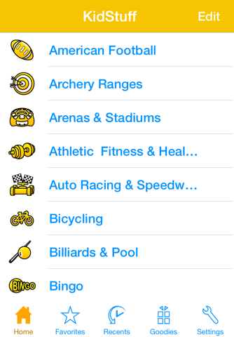 KidStuff - Find the closest kids activities, no matter where you are in the world. screenshot 1