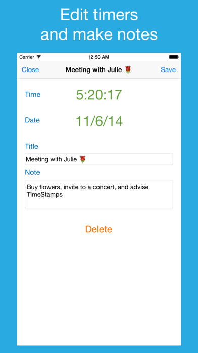 To do list, timers,  notes – Time Stamps screenshot two