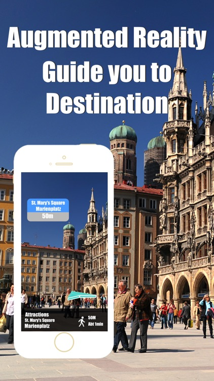Munich travel guide and offline city map, Beetletrip Augmented Reality München bahn Metro Train and Walks
